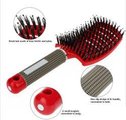 Hot les ventes en gros Detangle démêlant cosmétique plastique brosse incurvée brosse à cheveux de soie