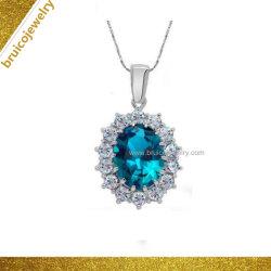 Mode 9K 14K 18K plaqué or Bijoux Bijoux cadeau 925 Sterling Silver Crystal Colliers avec Zircone