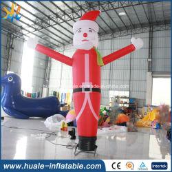 カスタマイズされるクリスマスのサンタの空のダンサーの膨脹可能な空気ダンスを広告する