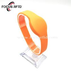 로고에 의하여 인쇄되는 RFID 팔찌 S50 1K F08 칩 실리콘을%s 가진 또는 길쌈하는 또는 Tyvek