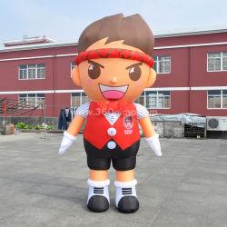 Мода дизайн приятный надувные мультфильм мальчик костюм для продажи