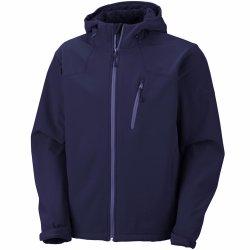 남자 겨울 온난한 외투 TPU에 의하여 박판으로 만들어지는 Softshell Hoody 재킷 보세품 긴 머리 양털