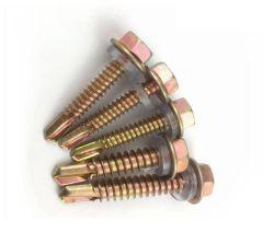 St3.5*19 Zinc-Color Оцинкованные винты Self-Drilling с шестигранной головкой с шайбой