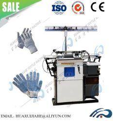 Auto mano computarizado que salpican tricotosa guante de trabajo Guantes de PVC de puntos que la maquinaria para la venta de color blanco Anti-Cut Guante de protección de polipropileno