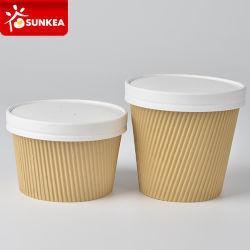 15oz 17oz doppel-wandiges Kräuselung-Packpapier-Suppe-Cup
