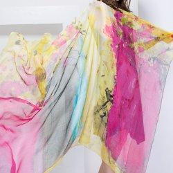 숙녀는 우아한 100%에게 스카프를 인쇄하는 실크 디지털을 모양 짓는다