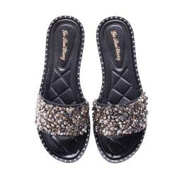 Broca de água Lantejoulas Anti-Skid Fashion vestindo a Sapata Soft-Soled Descalça plana