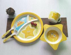 Articoli per la tavola di plastica stabiliti del piatto di bambù dei bambini degli articoli per la tavola