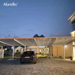 AlunoTec 방수 알루미늄 실외 안뜰 덮개 Pergola 풀백 카 포트 오프닝 지붕 차고 캐노피 캐포트