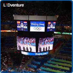 Affichage de périmètre complet de couleurs à l'intérieur du stade de basket-ball affichage LED