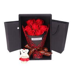 Kunstmatige Bloemen Geschenkhandwerk zeep Bloem Bouquet vervangt vers Bloemen voor Valentijnsdag
