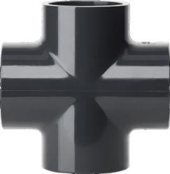 Accessorio per tubi ad alta pressione di plastica del tubo dell'accessorio per tubi di alta qualità UPVC e del PVC del T trasversale dei montaggi per lo standard del sistema industriale ASTM Sch80 & lo standard di BACCANO