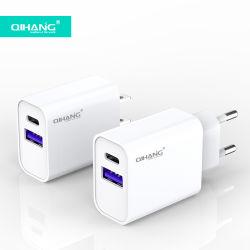 iPhoneのためのOEM ODM Super Fast Wall USB C AdaptorのタイプC QC 3.0 18W 20W Pd Charger USB Adapter 12 PRO Max