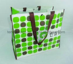 D'impression personnalisée Sac étanche de lamination PP tissés Eco procéder shopping sac d'épicerie réutilisables
