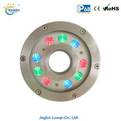 Haut Fontaine LED étanche 18W éclairage annulaire IP68 Voyant subaquatique Fontaine de la lumière avec changement de couleur RGBW (JP94194)
