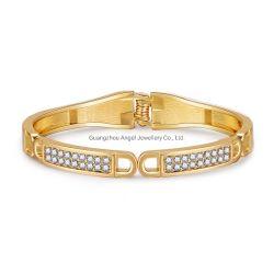Hot Sale Nouveau design plaqué or Bijoux accessoire de mode Femmes 925 Sterling Silver Crystal Bracelet Bangle