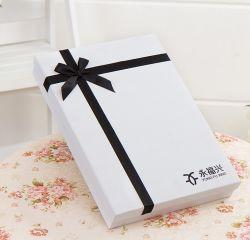 Dom de retenção de papel/gravata/capa/camiseta/lenços de papel de embalagem caixa com fita de seda