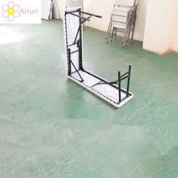 Im Freien 6FT leistungsfähiger rechteckiger Stahlplastik, der langen Schemel-Prüftisch faltet
