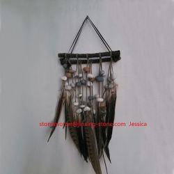 Wall Hanging décorations /Haning Craft /Stone, la plume et le bois la pendaison de Fengshui Art Decoration /Wall Hanging et la Décoration Décoration d'accueil Flair Tribal de plumes