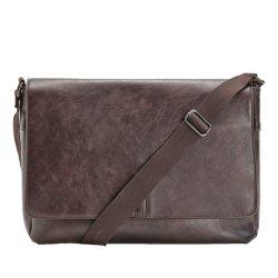 Schoudertas voor schoudertas laptop Dames Mannen Satchel Notebook Cross Body Donkerbruine zakentas