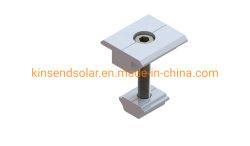METÀ DI morsetto di alluminio anodizzato universale dell'estremità del morsetto per il sistema del montaggio di comitato solare