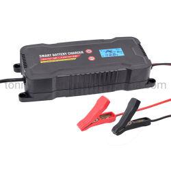 Voiture Smart Chargeur de batterie, chargeur Multi-Stage entièrement automatique avec fonction de démarrage du moteur d'urgence