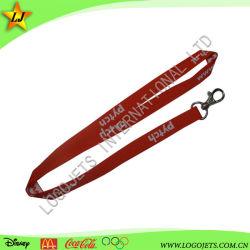 Cadeau promotionnel lanière de cou personnalisée en usine sangle avec logo étiquette tissée