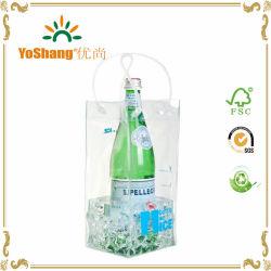 Оптовая торговля рекламные экологически безвредные ясно ПВХ вино льда подушек безопасности / вино из ПВХ подарок мешок льда