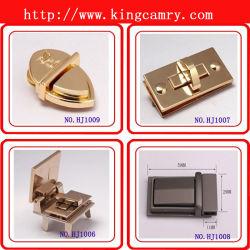 OEM Wholesale Zinc Alloy Bag Parts Metel Square Lock