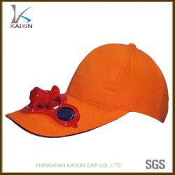Ventilador de la energía solar en blanco liso Cap gorra con ventilador