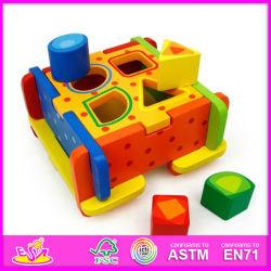 2014 New e Popular superiori Wooden Block Puzzle Set, Hot Sale Wooden Block Puzzle Toy, Interlocking Block Puzzle W12d007