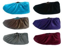 100pcs Non-Woven tissu chaussures jetables couvre une bande élastique à la poussière respirable médicale couvre-chaussures anti-dérapant (rose/bleu)