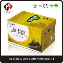 Het professionele Verpakkende Vakje Van uitstekende kwaliteit van de Wijn van het Document van de Kleurendruk Golf