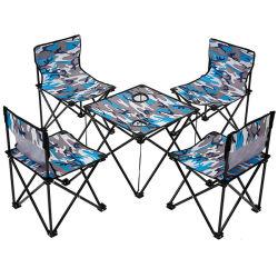 Im Freien kampierendes beweglicher Klapptisch-Stuhl-gesetztes Garten-Möbel-Set