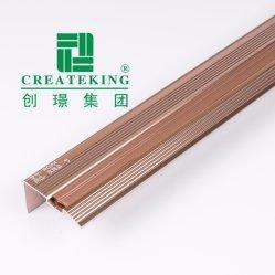 Perfil de guarnição de mosaico de alumínio de perfil de alumínio de inserções de madeira Orladora