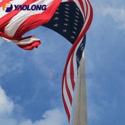 Hot Sale solide en aluminium haute résistance manuel mât d'entraînement facile de l'installation d'un drapeau pôle avec la résistance du vent au niveau 12