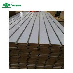 18мм меламина MDF с покрытием Slatwall белого цвета с 11 слотов алюминия