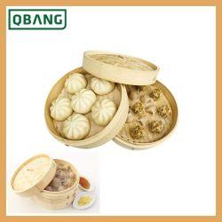 El bambú Tamaño personalizado de la Ronda de Nivel 2 vaporera de bambú para la cocina El restaurante del hotel