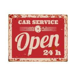 Praktische Werbung in Geschäften Vintage Tin Signs