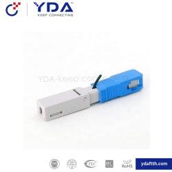 FTTH Sc connecteur rapide de l'APC à fibre optique pour le câble de connecteur rapide