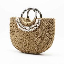 Sacchetto di tessitura della paglia delle 2019 signore della nuova di estate dei sacchetti delle donne spiaggia Handmade delle coperture