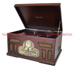 Caldo-Vendita della casella di legno, riproduttore di CD, grammofono, USB, BT, piattaforma girevole del vassoio