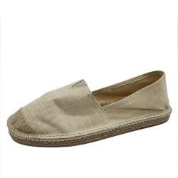 女性のための古典的なキャンバスおよびジュートの余暇の靴の通気性のEspadrilles