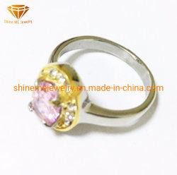 Mode bijoux cristal rose cut moulage bague de mariage en acier inoxydable SCR3011