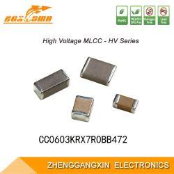 0603 X7r 4.7NF ± elektronische Component van Mlcc van de Condensator van de Spaander van 10% 100V SMD Multilayer Ceramische