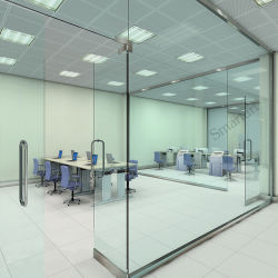 Innenglaswand/Frameless Büro-Glastrennwand