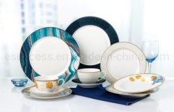 Fábrica de vajilla de porcelana China de vajilla al por mayor proveedor de oro la fabricación de placa de cerámica de la etiqueta