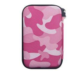 Capot de tissu de camouflage de transport antichoc disque EVA Étui de rangement pour téléphone mobile avec l'attache