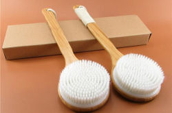 فرشاة تنظيف الحرير من الخيزران لتنظيف الخلايا الجافة/ تقشير البشرة/التأكسج