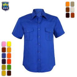 Fabriek Workwear Twee Katoenen van het Werk van de Koker van de Zak Kort Overhemd